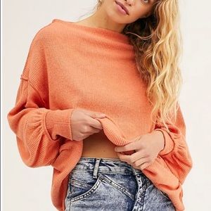 [ FREE PEOPLE ]  Cayenne  Main Squeeze Hacci Top